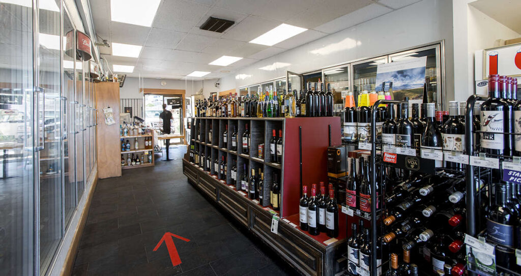 Gramma's Liquor Store - Lower Gibsons, BC right on the waterfront