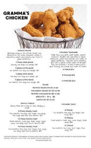 Gramma's Pub - Chicken Menu